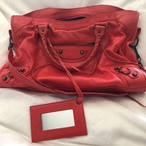 Balenciaga classic signature bag- orange!